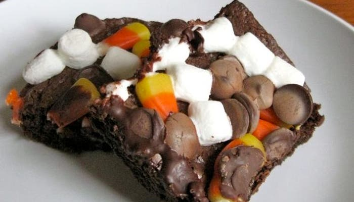 receta de brownies de Halloween