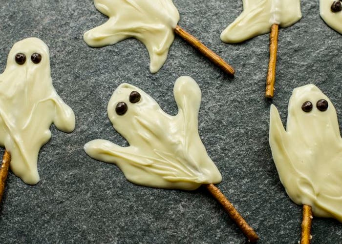 receta de fantasmas de chocolate blanco