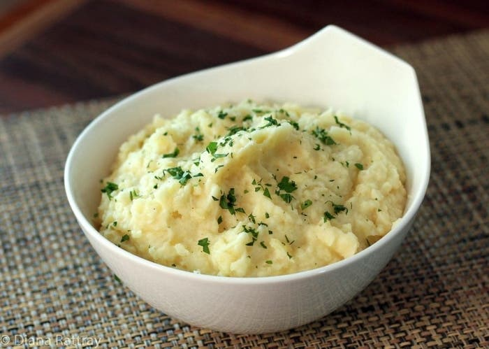 Puré de patatas con hierbas