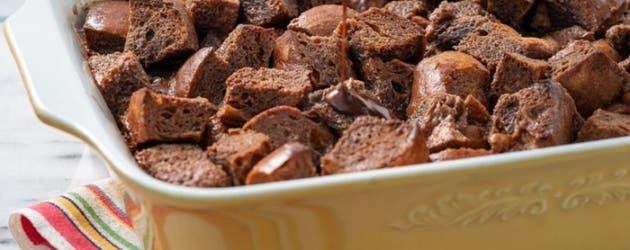 Receta de pudin de pan de chocolate