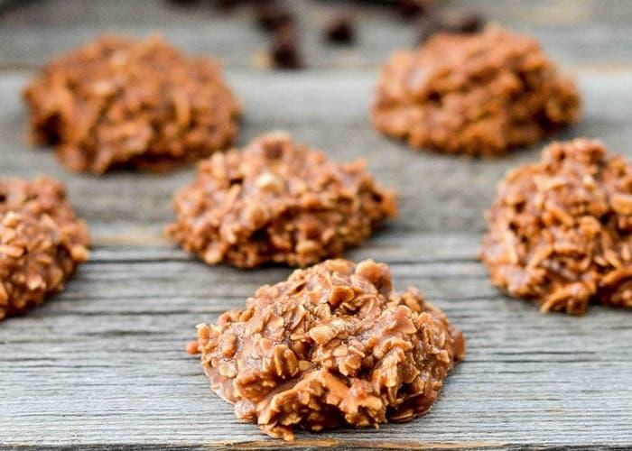 receta de galletas de mantequilla de maní con chocolate