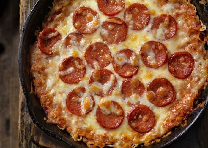 pizza de espaguetis