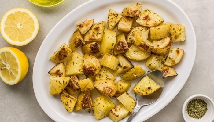 Receta de patatas griegas con ajo y oregano