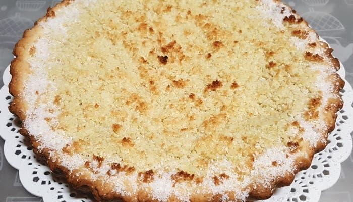 Receta de tarta de membrillo y coco rallado
