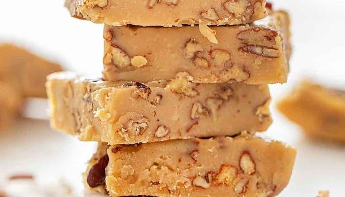 receta de fudge de dulce de leche y nueces
