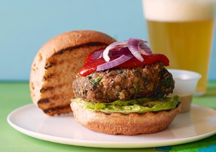 Receta de hamburguesa de lentejas
