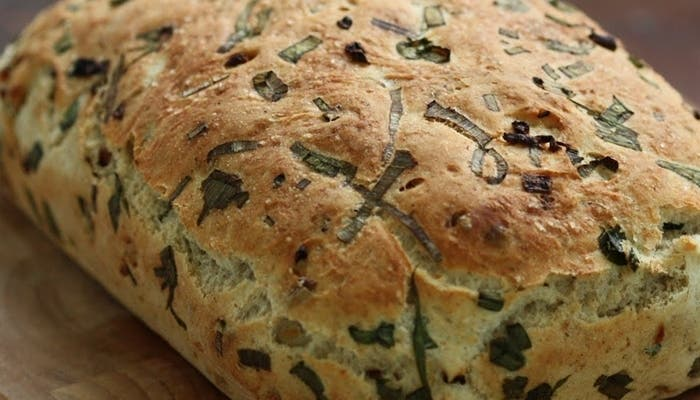 Pan de cebolla caramelizada