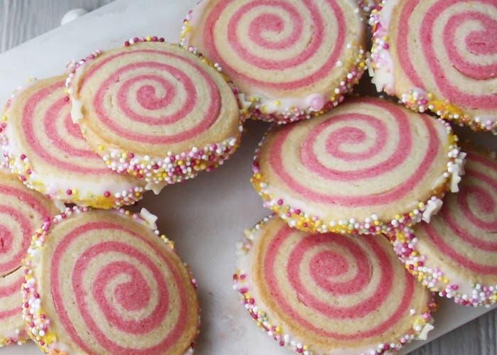 galletas bicolores en forma de espiral