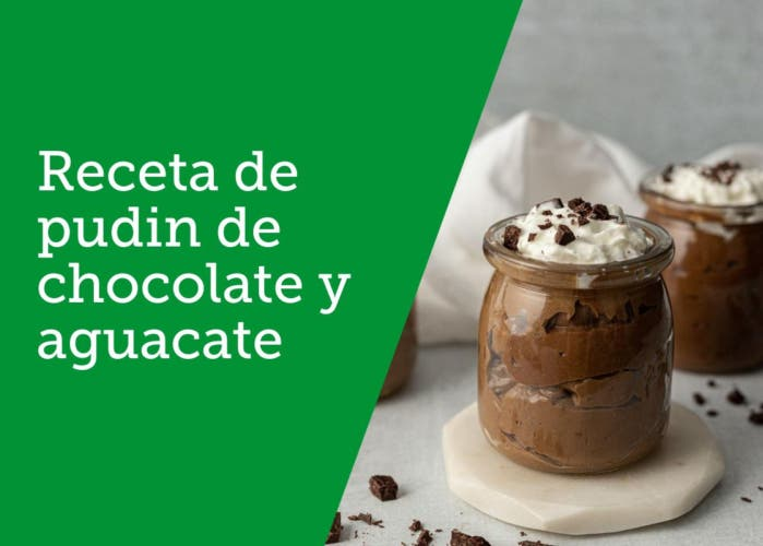 Receta de pudin de chocolate y aguacate