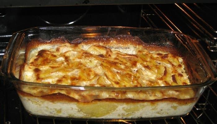 gratín de patatas