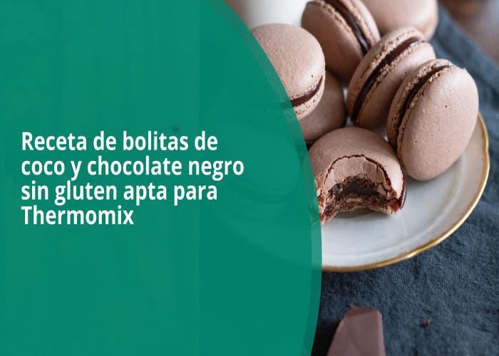 bolitas de coco y chocolate negro sin gluten apta para Thermomix