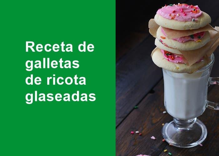 galletas de ricota glaseadas