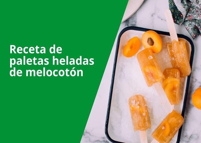 paletas heladas de melocoton