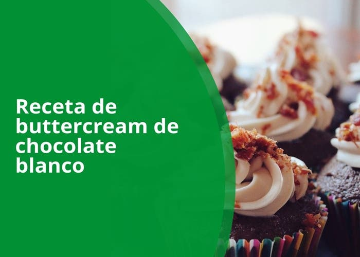 receta de buttercream de chocolate blanco