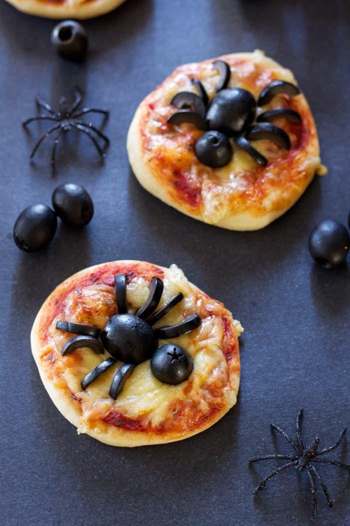 Mini pizzas de arana