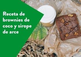 Brownies de coco y sirope de arce