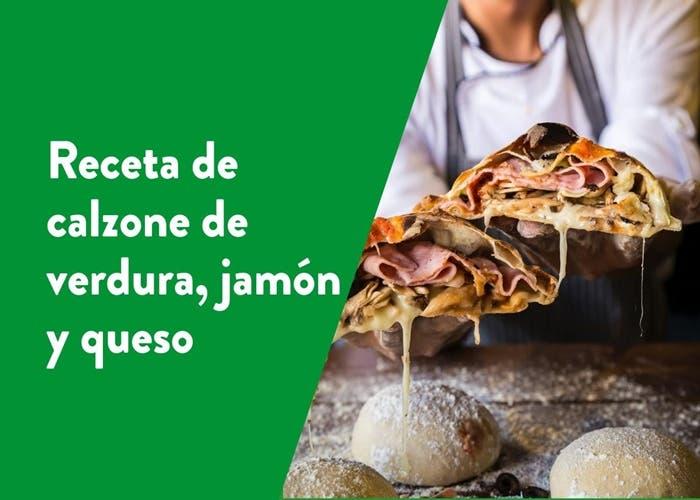 Receta de calzone de verdura, jamón y queso