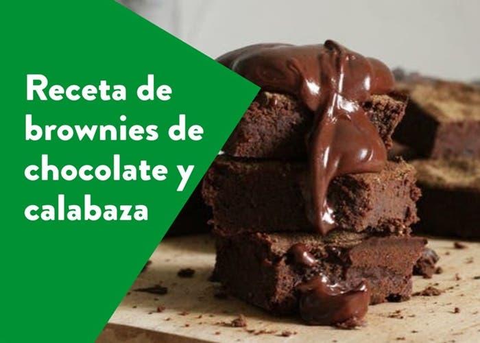 Receta de brownies de chocolate y calabaza