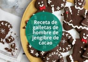 Receta de galletas de hombre de jengibre de cacao