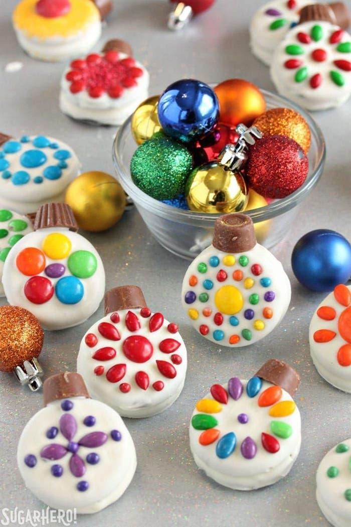 Esferas navideñas de galletas Oreo