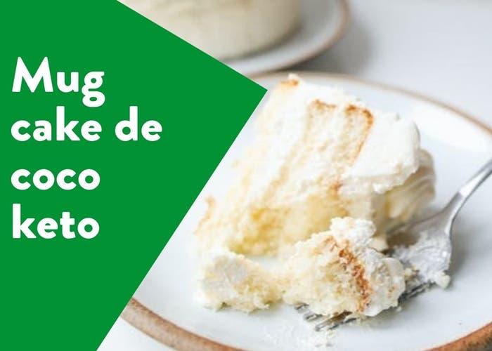 mug cake de coco