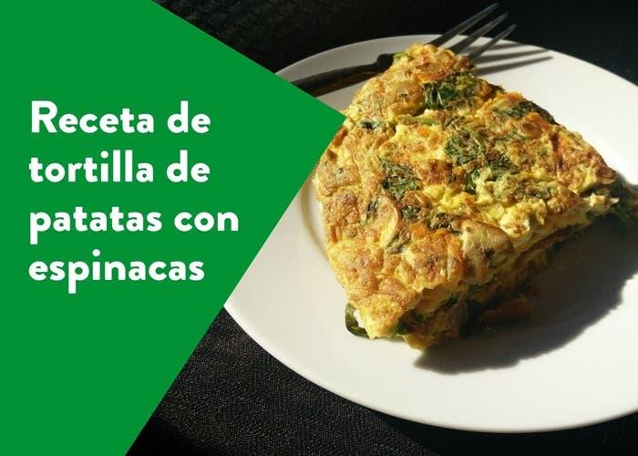 tortilla de patatas con espinacas
