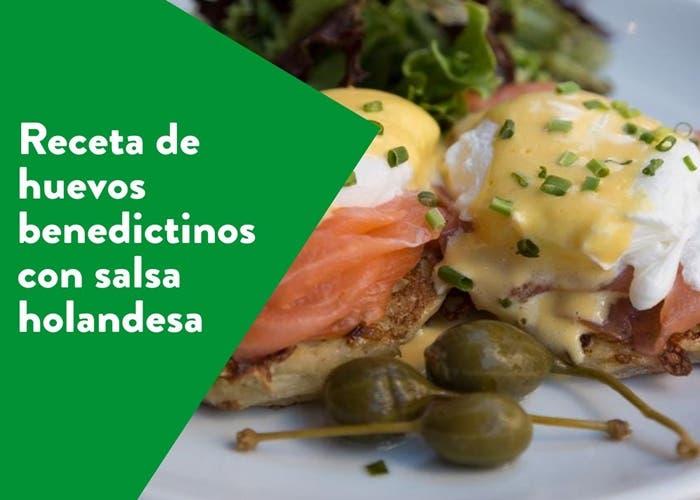Receta de huevos benedictinos con salsa holandesa