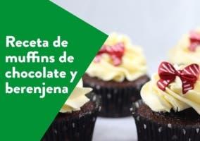 muffins de chocolate y berenjena