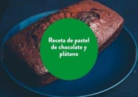pastel de platano y chocolate