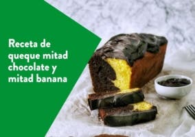 queque mitad banana mitad chocolate
