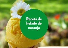 helado de naranja