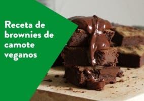 Receta de brownies de camote veganos