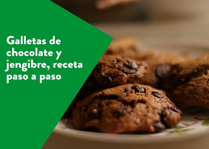 galletas de chocolate y jengibre