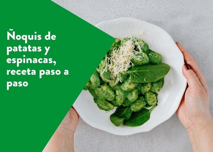 noquis de patatas y espinacas