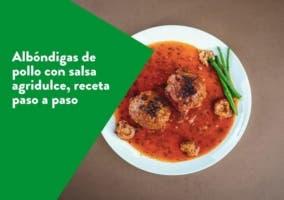 albondigas de pollo con salsa agridulce