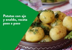 patatas con ajo y eneldo