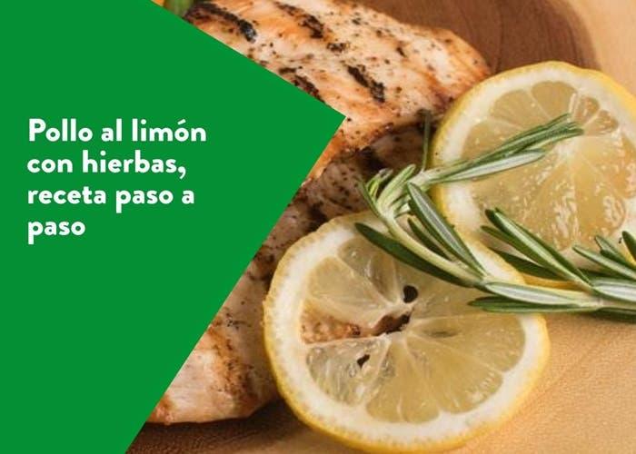 pollo al limon con hierbas