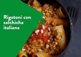 rigatoni con salchicha italiana