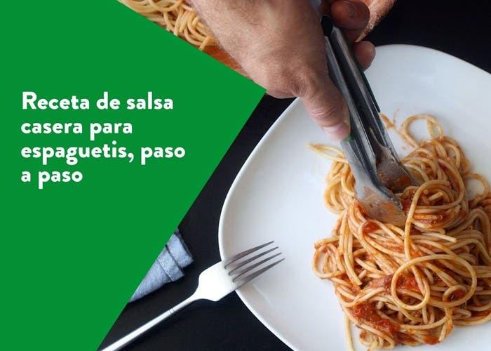 espaguetis en salsa