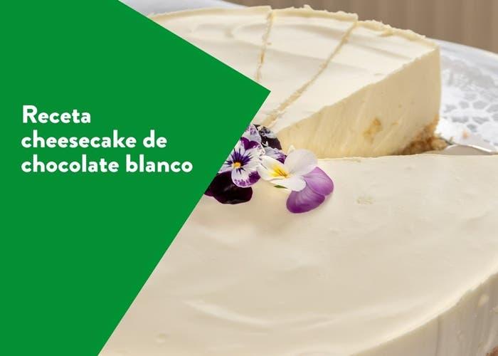 Cheesecake de chocolate blanco, receta paso a paso