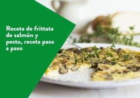 Frittata de salmón y pesto