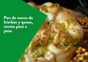 Pan de mono de hierbas y queso, receta paso a paso