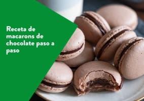 Receta de macarons de chocolate paso a paso