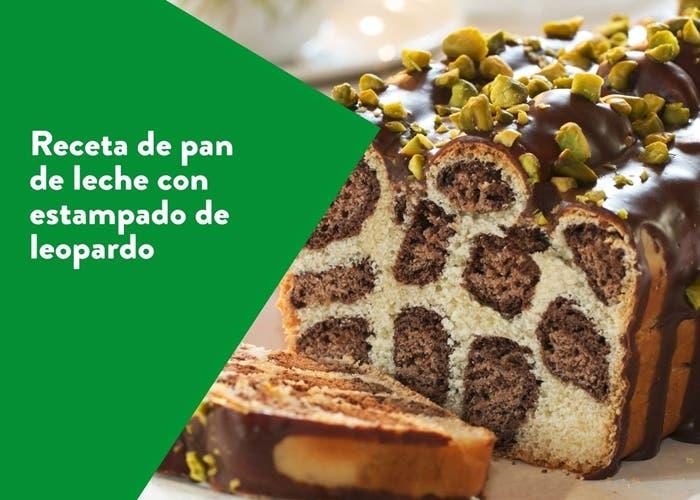 Receta de pan de leche con estampado de leopardo