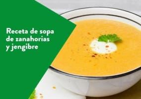 Receta de sopa de zanahorias y jengibre