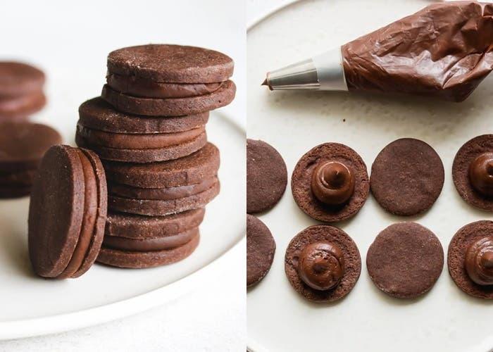 Galletas sándwich de chocolate