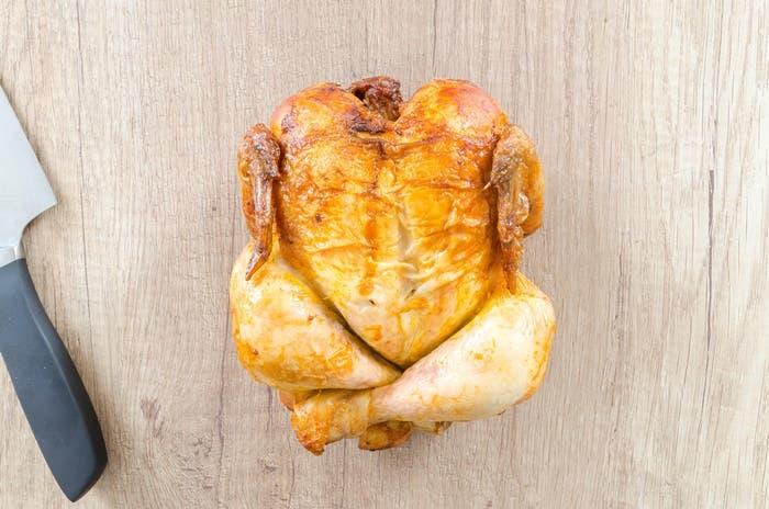 Pollo asado con limón