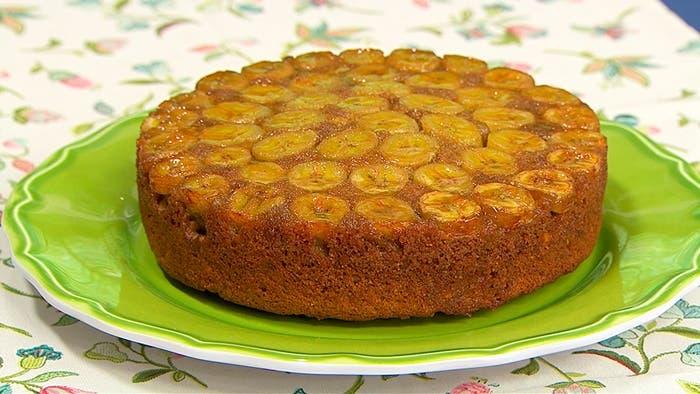Torta de plátano invertida