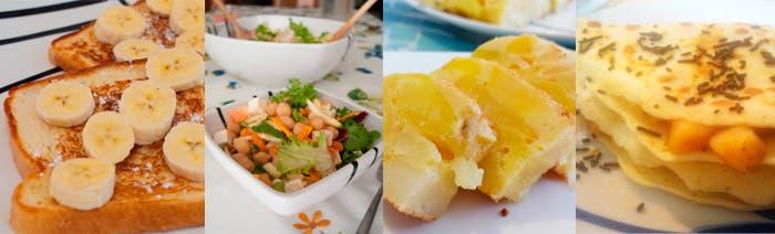 Varios platos de las recetas mostradas a lo largo de la semana