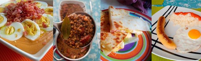 Varios platos realizados en placer al plato